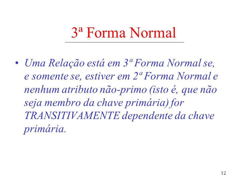 3ª Forma Normal