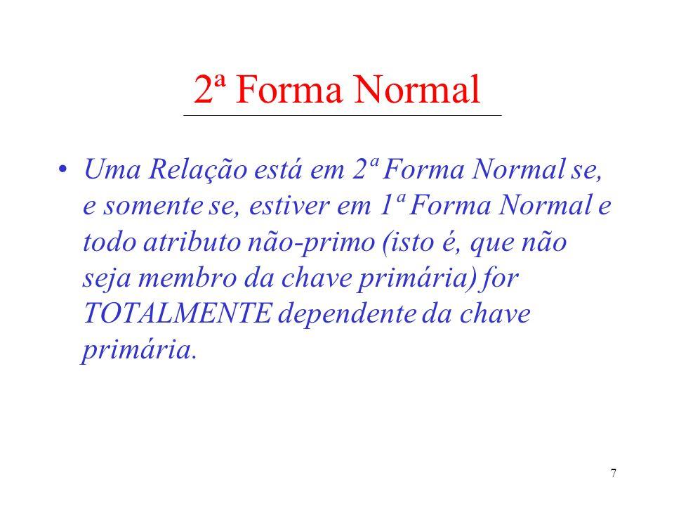 2ª Forma Normal
