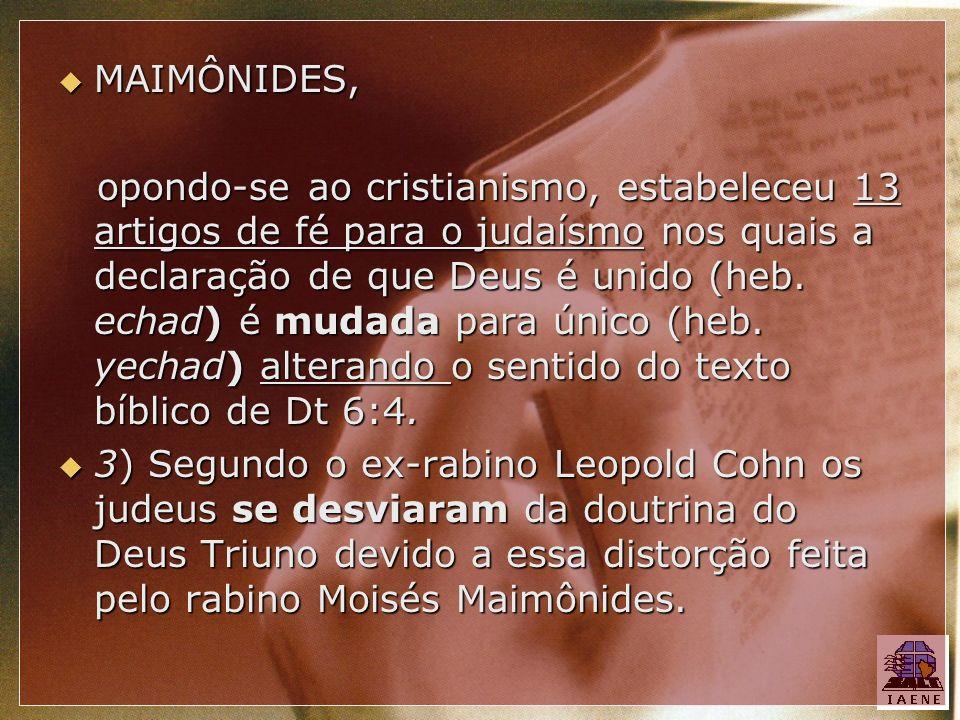 MAIMÔNIDES,