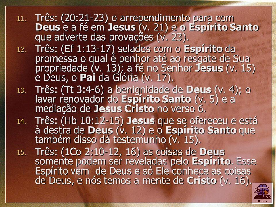 Três: (20:21-23) o arrependimento para com Deus e a fé em Jesus (v