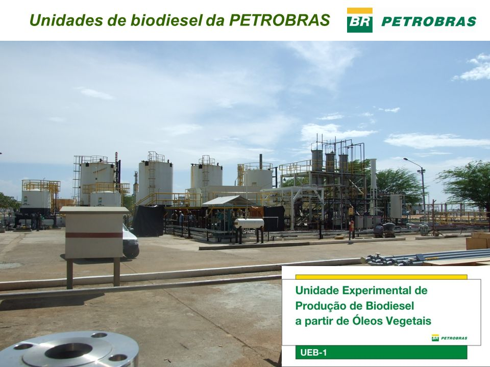Unidades de biodiesel da PETROBRAS