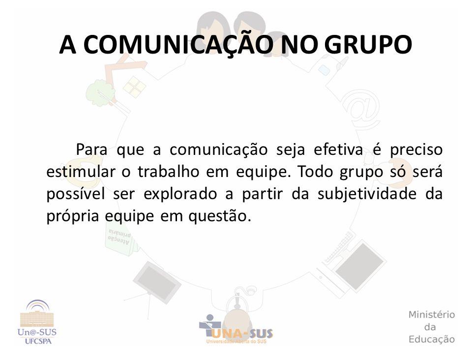 A COMUNICAÇÃO NO GRUPO
