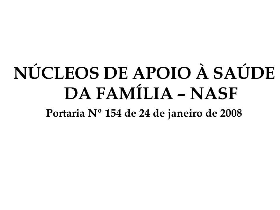 NÚCLEOS DE APOIO À SAÚDE DA FAMÍLIA – NASF