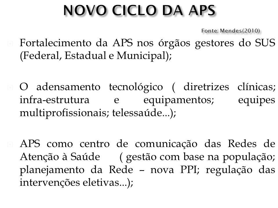 NOVO CICLO DA APS Fonte: Mendes(2010)