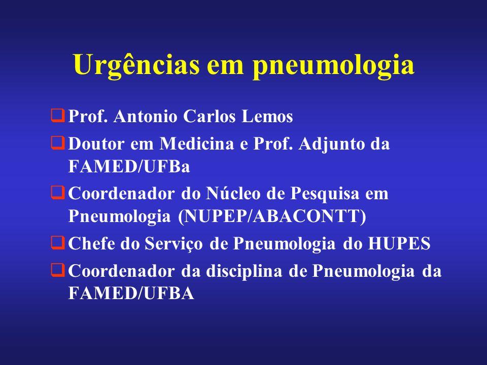 Urgências em pneumologia