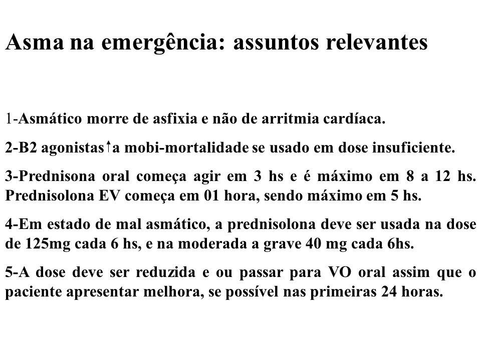 Asma na emergência: assuntos relevantes