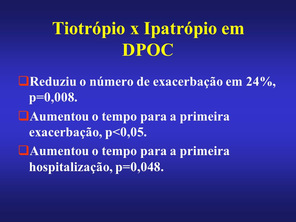 Tiotrópio x Ipatrópio em DPOC