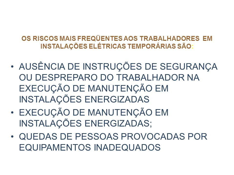 EXECUÇÃO DE MANUTENÇÃO EM INSTALAÇÕES ENERGIZADAS;