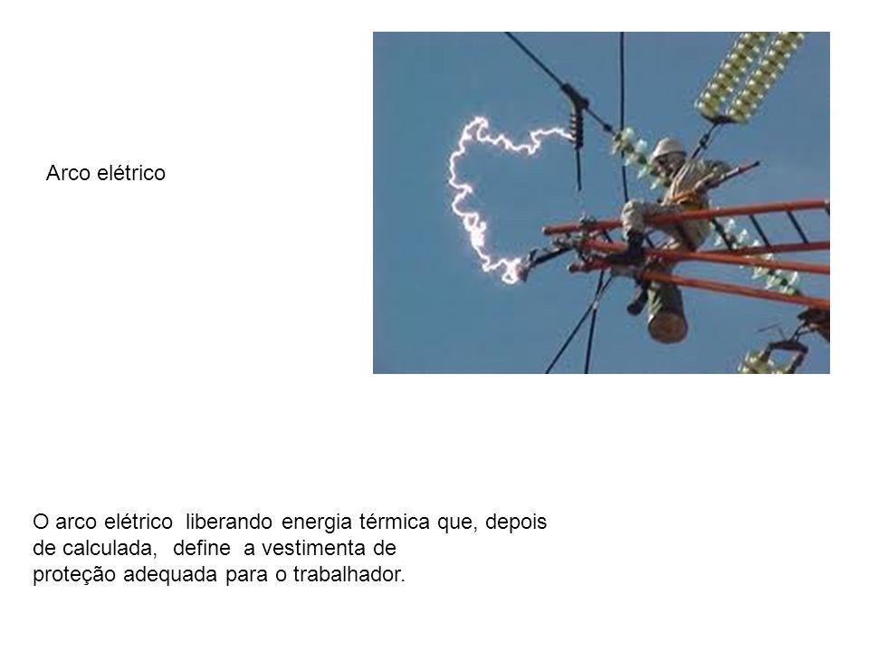 Arco elétrico O arco elétrico liberando energia térmica que, depois de calculada, define a vestimenta de.
