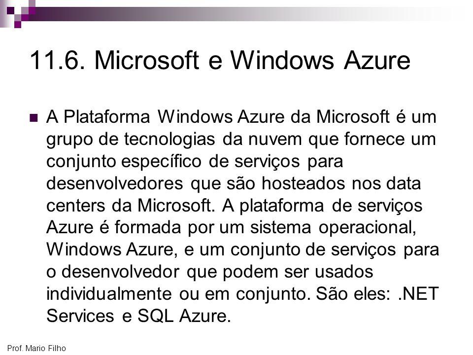 11.6. Microsoft e Windows Azure