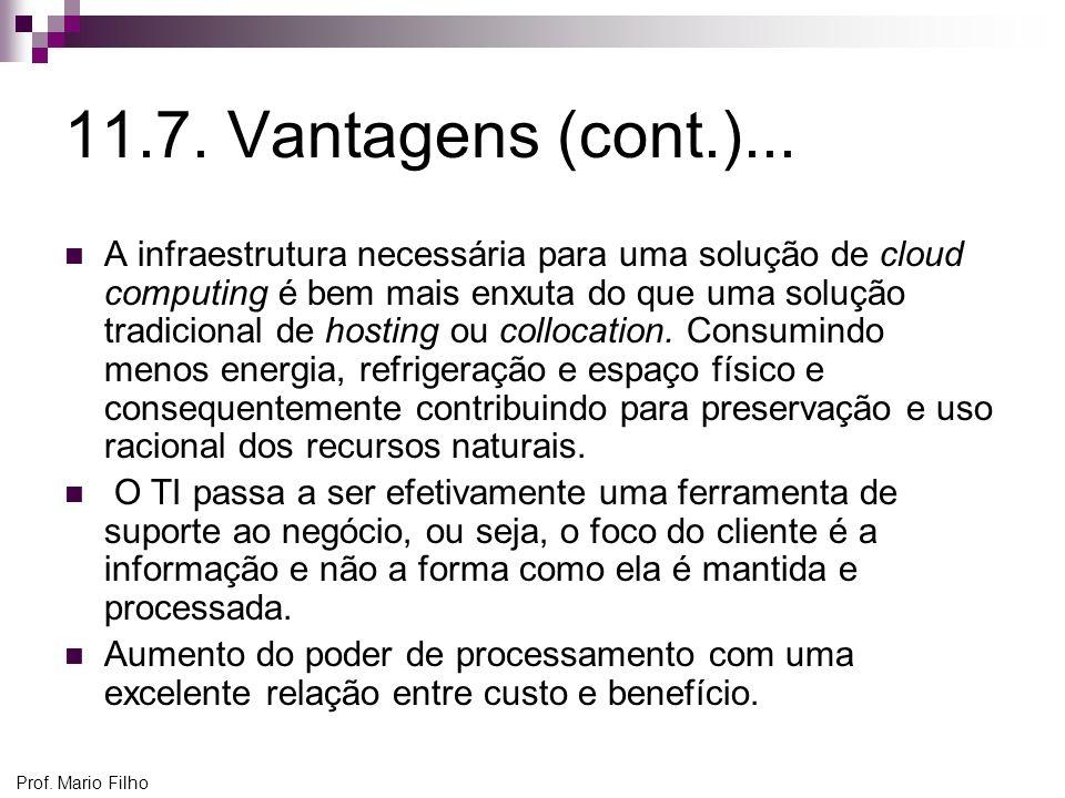 11.7. Vantagens (cont.)...