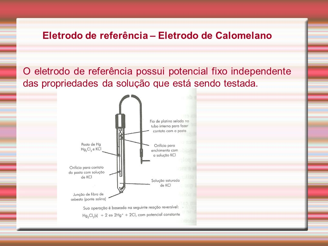 Eletrodo de referência – Eletrodo de Calomelano