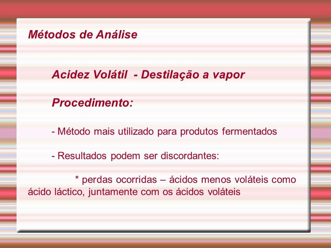 - Método mais utilizado para produtos fermentados