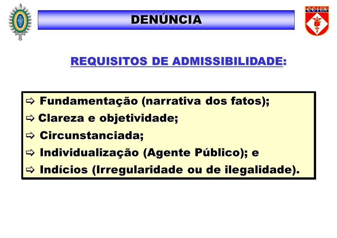REQUISITOS DE ADMISSIBILIDADE: