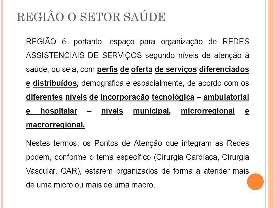 REGIÃO O SETOR SAÚDE