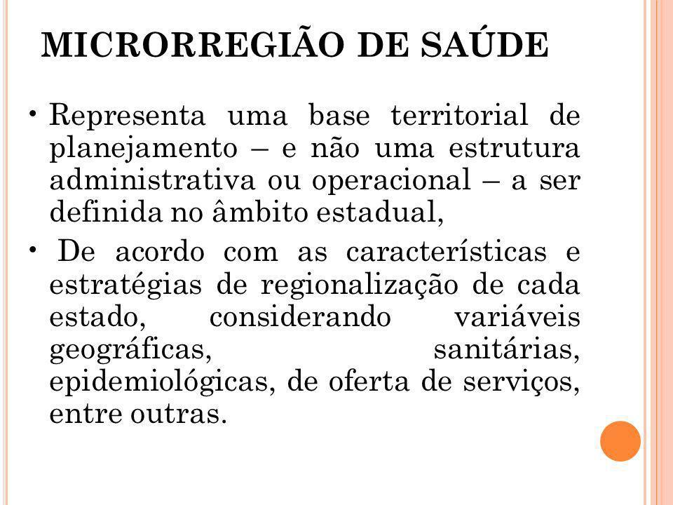 MICRORREGIÃO DE SAÚDE