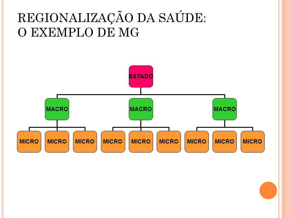 REGIONALIZAÇÃO DA SAÚDE: O EXEMPLO DE MG