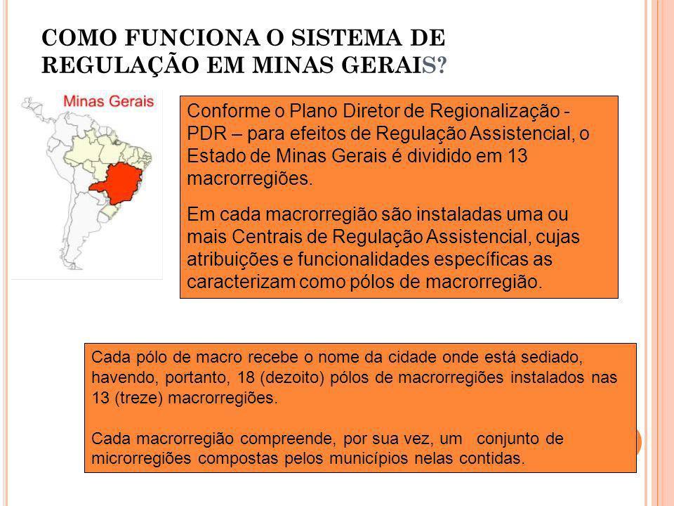 COMO FUNCIONA O SISTEMA DE REGULAÇÃO EM MINAS GERAIS
