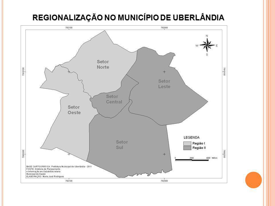 REGIONALIZAÇÃO NO MUNICÍPIO DE UBERLÂNDIA