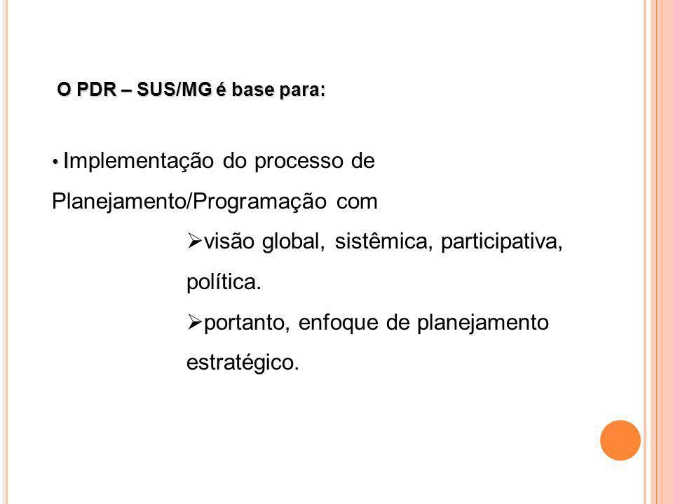 visão global, sistêmica, participativa, política.