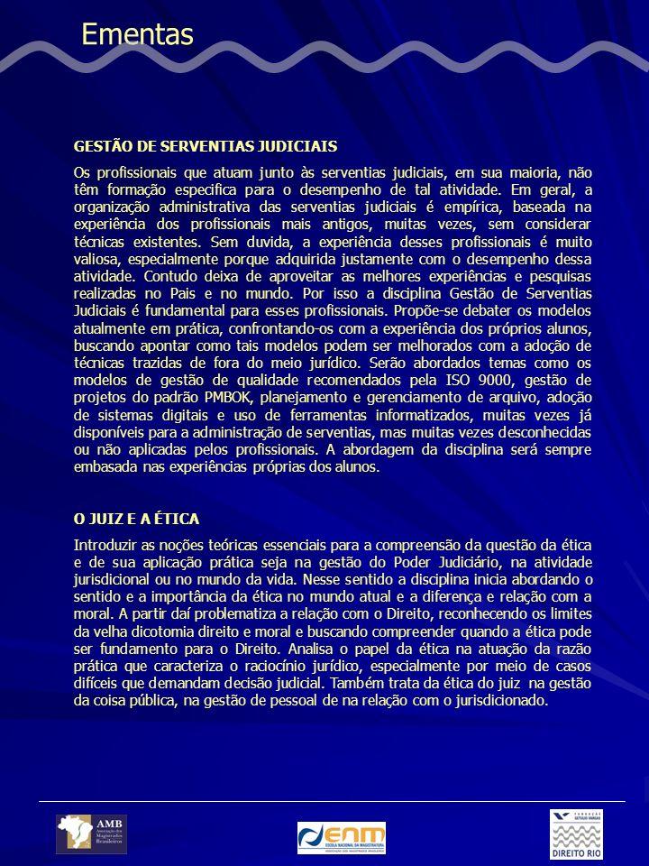 Ementas GESTÃO DE SERVENTIAS JUDICIAIS