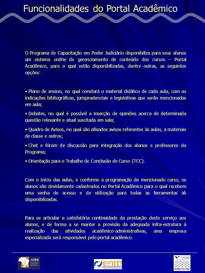 Funcionalidades do Portal Acadêmico