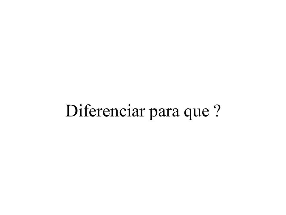 Diferenciar para que