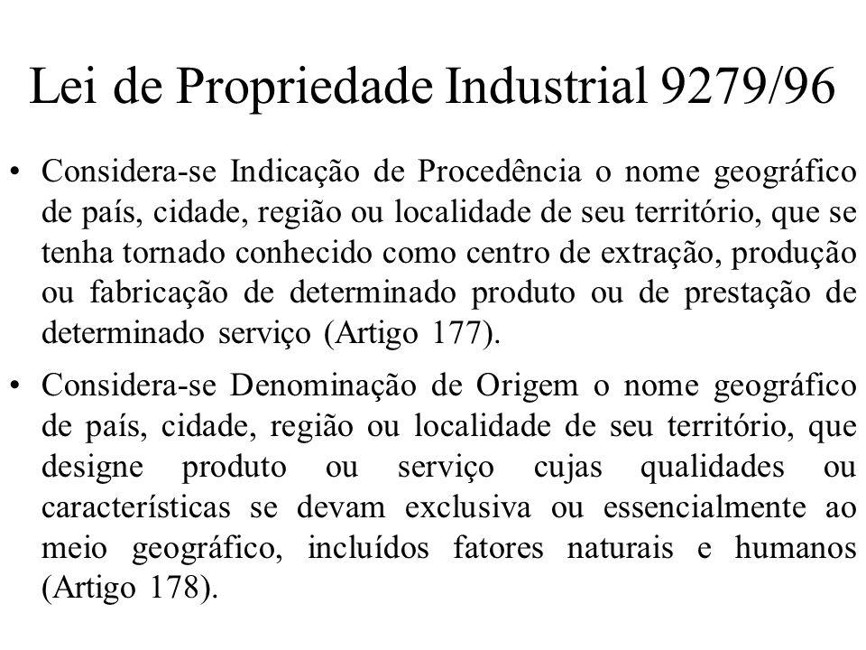 Lei de Propriedade Industrial 9279/96