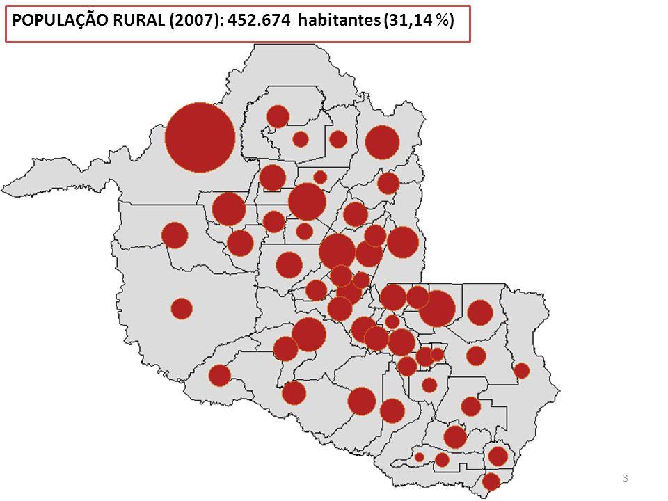 POPULAÇÃO RURAL (2007): 452.674 habitantes (31,14 %)