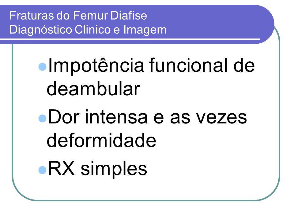 Fraturas do Femur Diafise Diagnóstico Clinico e Imagem