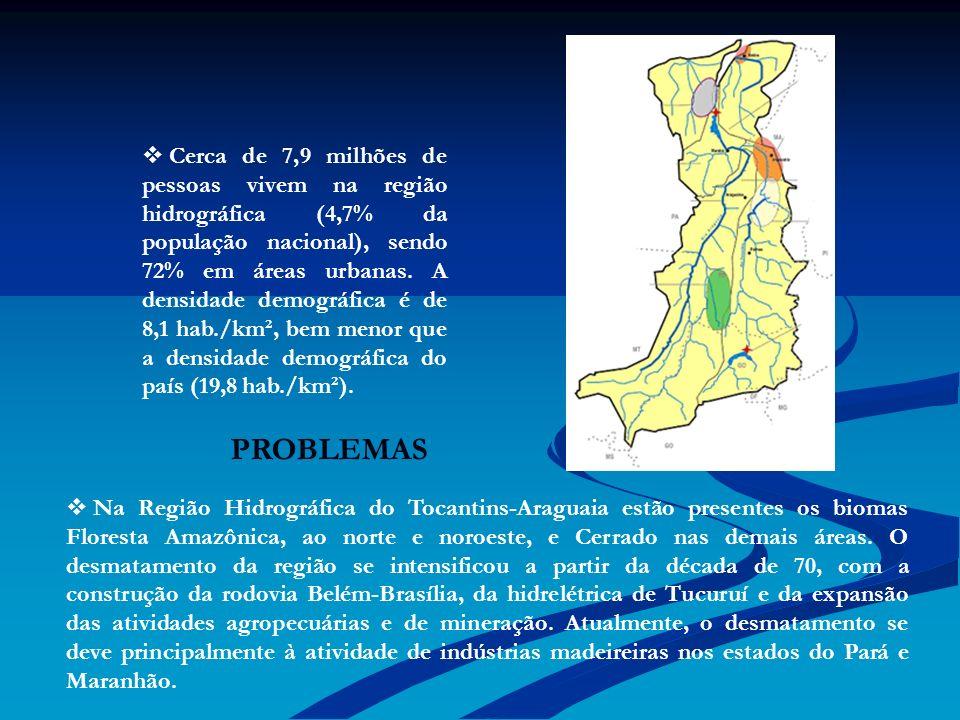 Cerca de 7,9 milhões de pessoas vivem na região hidrográfica (4,7% da população nacional), sendo 72% em áreas urbanas. A densidade demográfica é de 8,1 hab./km², bem menor que a densidade demográfica do país (19,8 hab./km²).