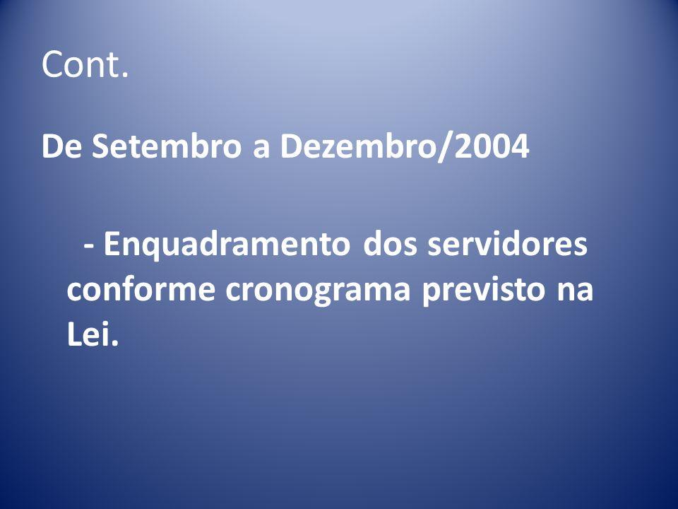 Cont. De Setembro a Dezembro/2004