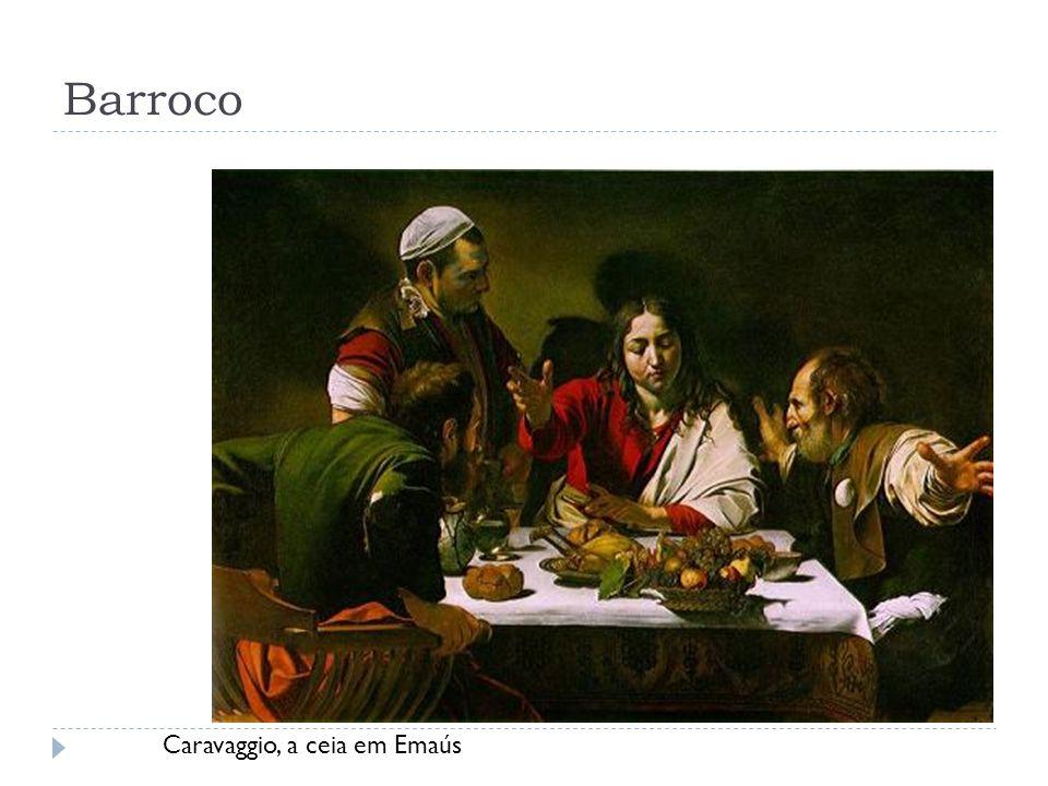 Barroco Caravaggio, a ceia em Emaús