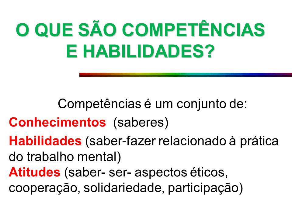 O QUE SÃO COMPETÊNCIAS E HABILIDADES