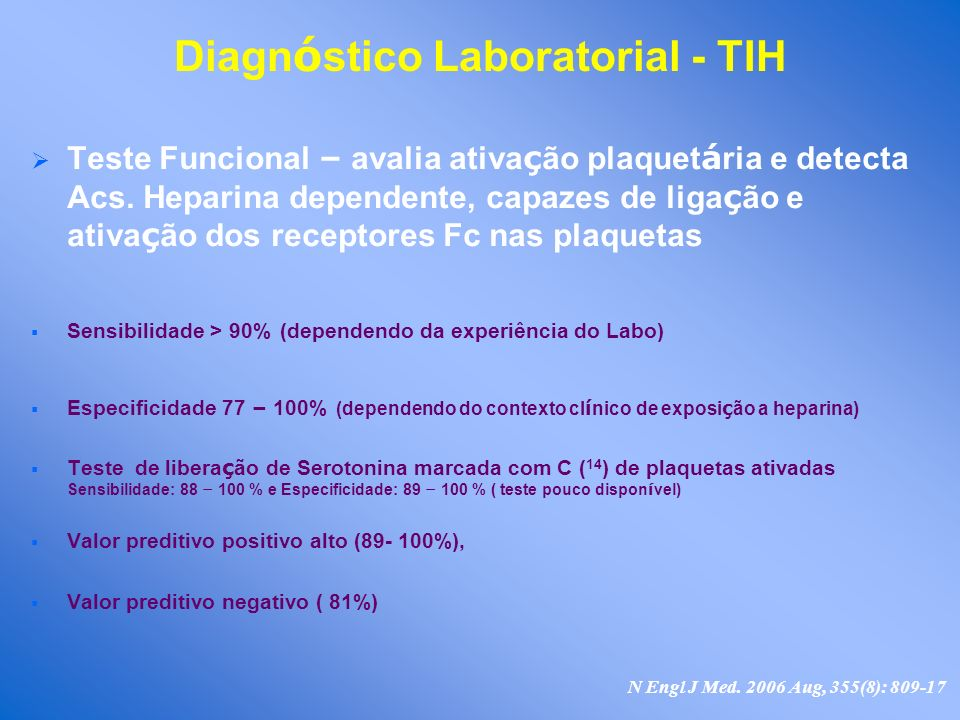 Diagnóstico Laboratorial - TIH
