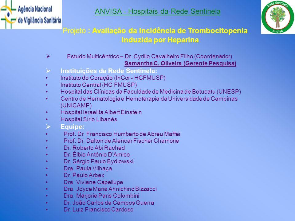 ANVISA - Hospitais da Rede Sentinela