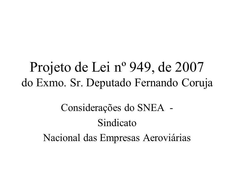 Projeto de Lei nº 949, de 2007 do Exmo. Sr. Deputado Fernando Coruja