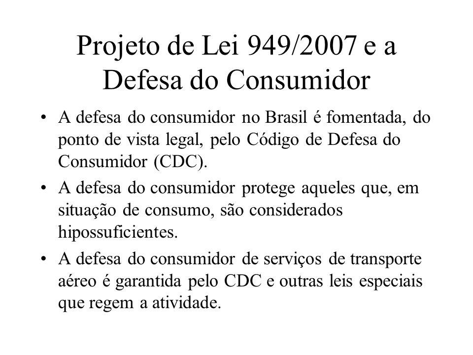 Projeto de Lei 949/2007 e a Defesa do Consumidor