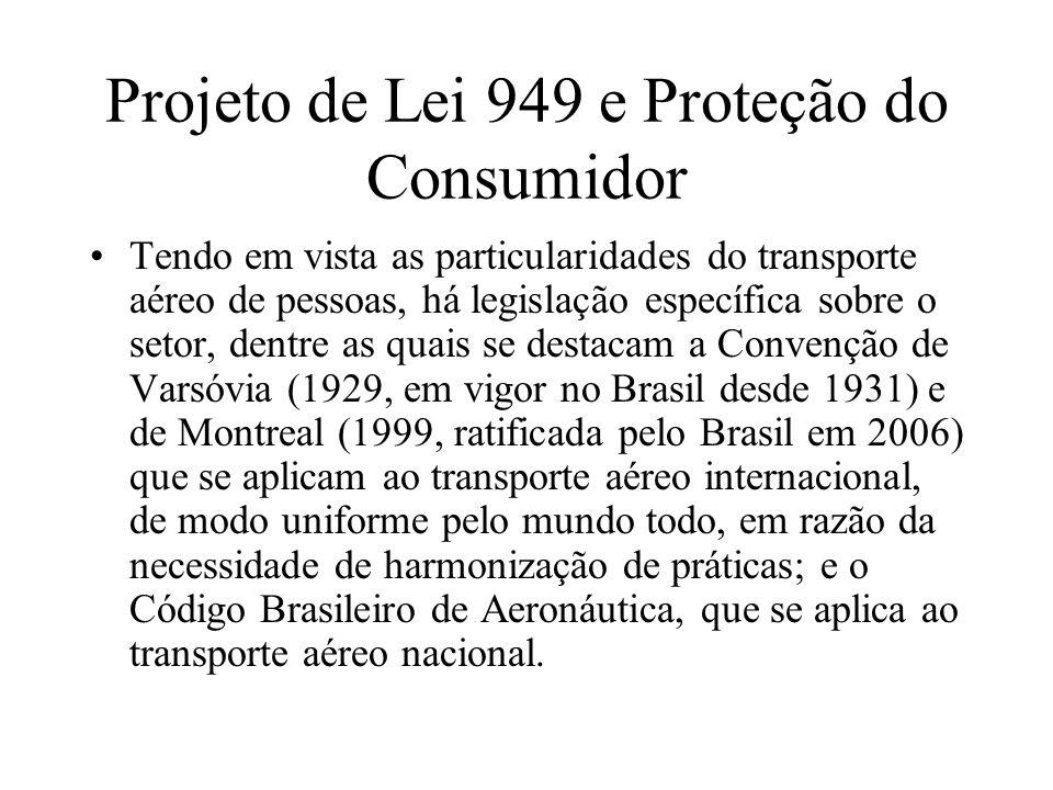 Projeto de Lei 949 e Proteção do Consumidor