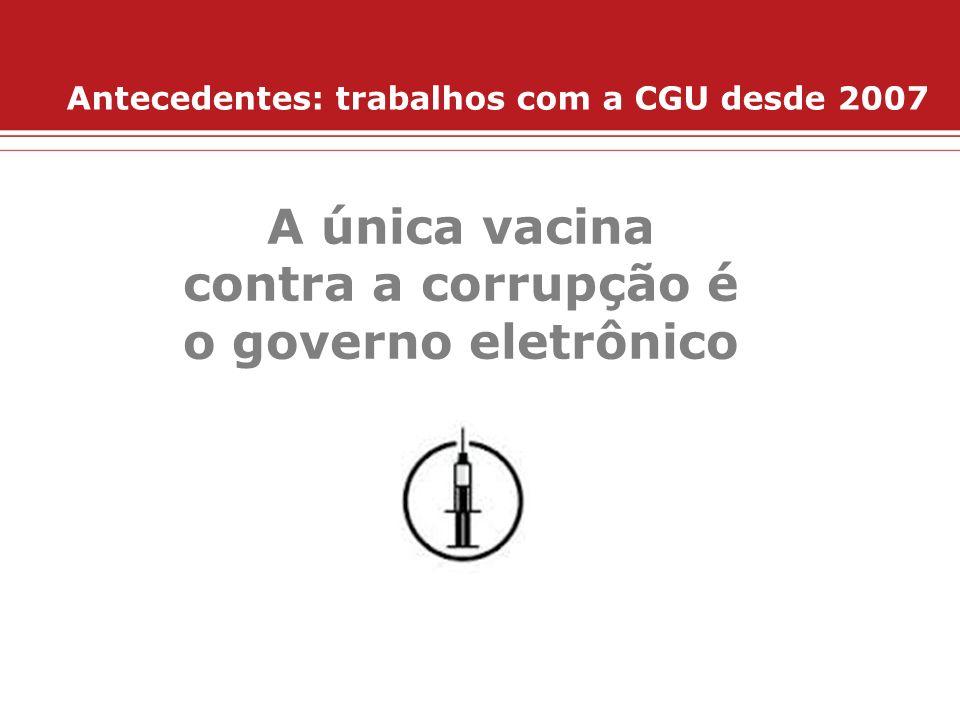 A única vacina contra a corrupção é o governo eletrônico