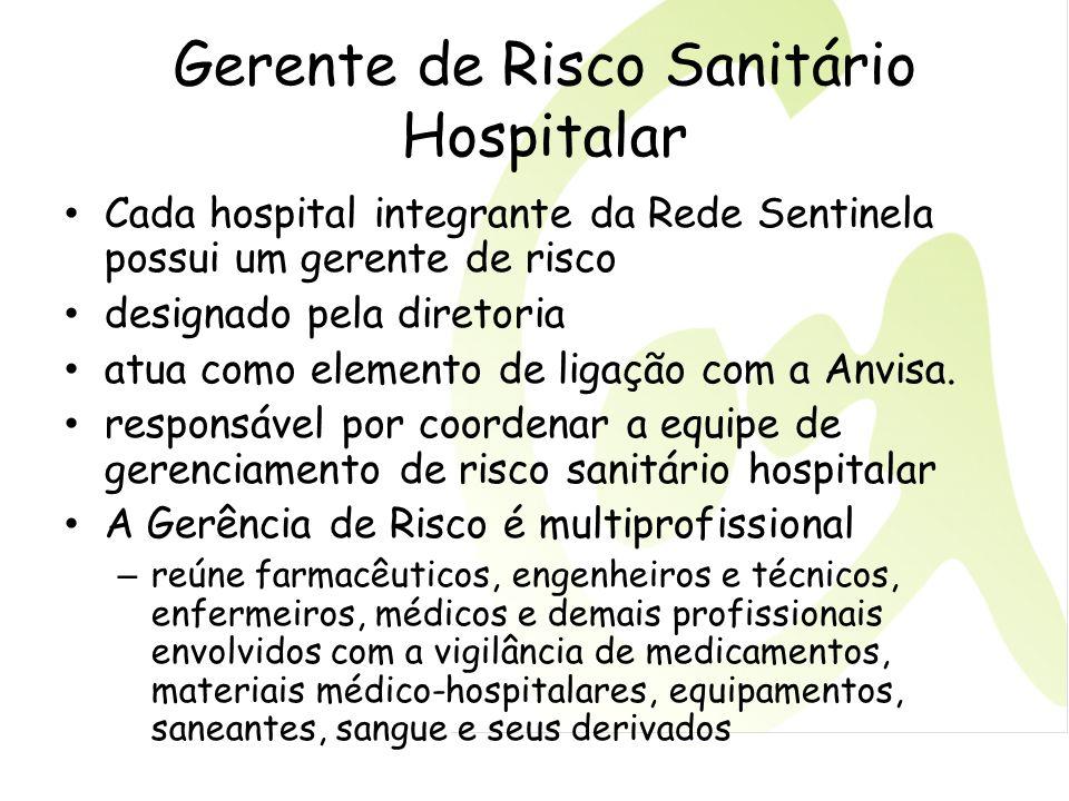 Gerente de Risco Sanitário Hospitalar