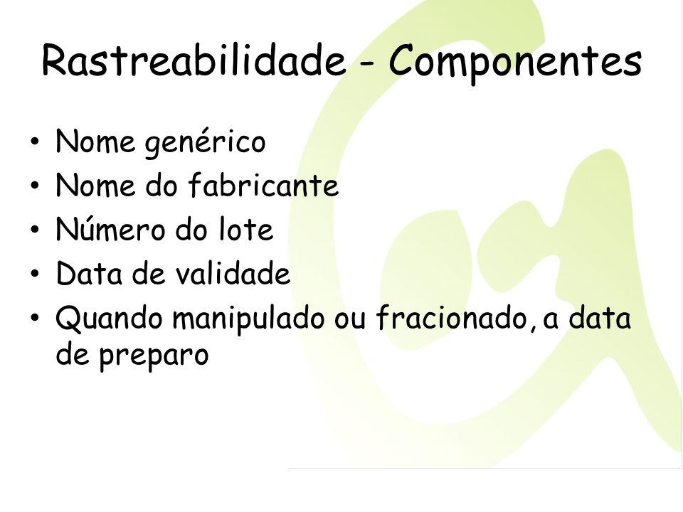 Rastreabilidade - Componentes