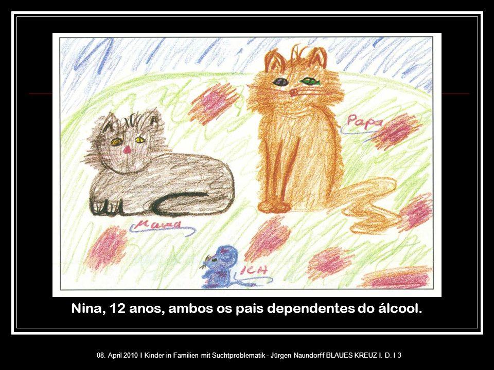 Nina, 12 anos, ambos os pais dependentes do álcool.