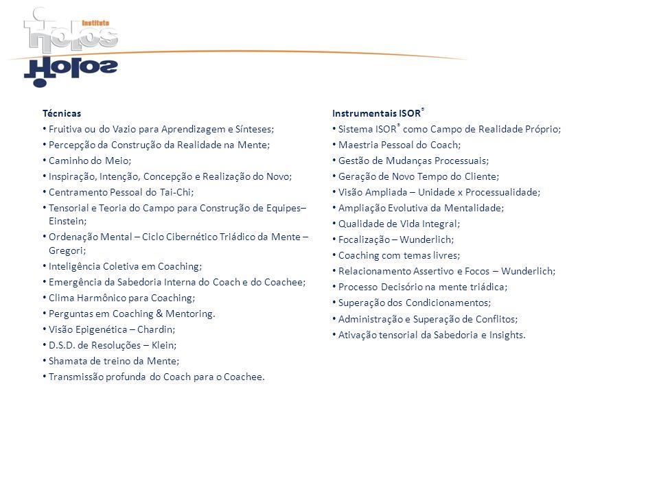 TécnicasInstrumentais ISOR® Fruitiva ou do Vazio para Aprendizagem e Sínteses; Sistema ISOR® como Campo de Realidade Próprio;