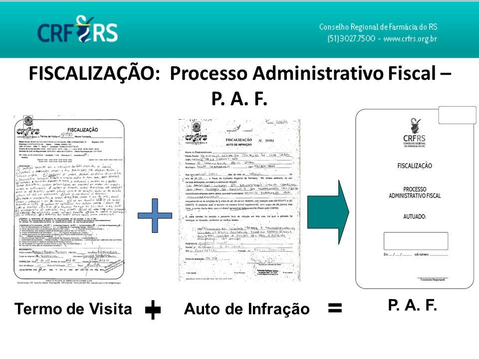 FISCALIZAÇÃO: Processo Administrativo Fiscal –