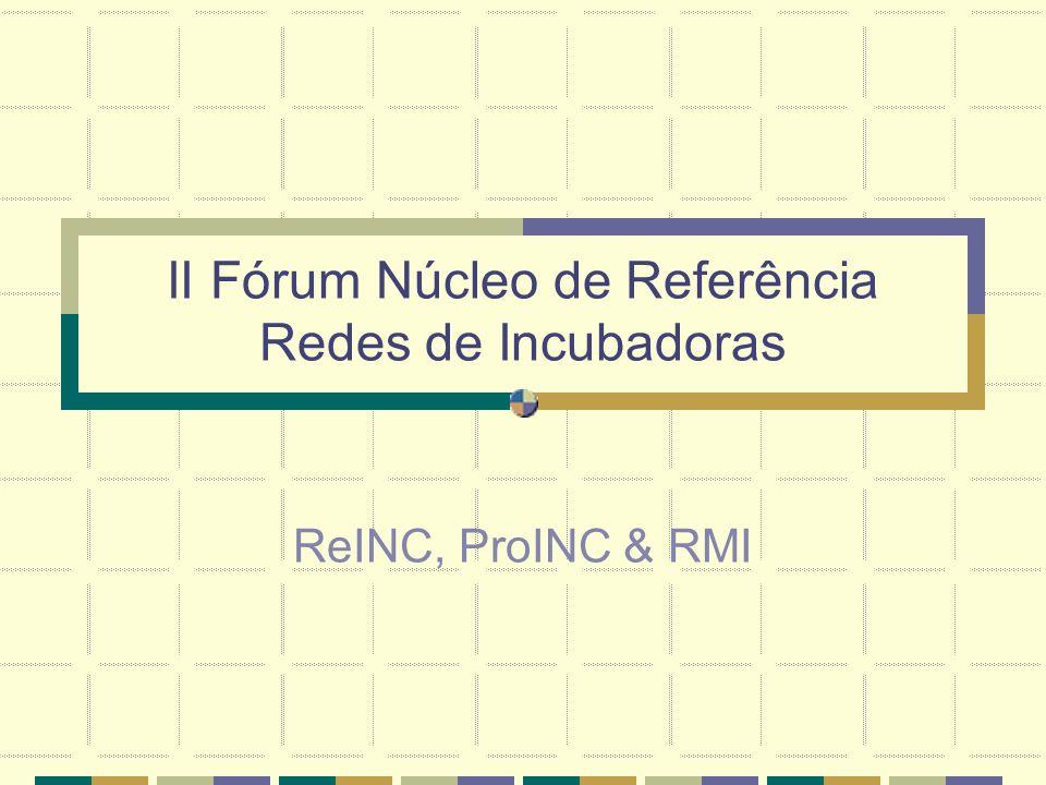 II Fórum Núcleo de Referência Redes de Incubadoras