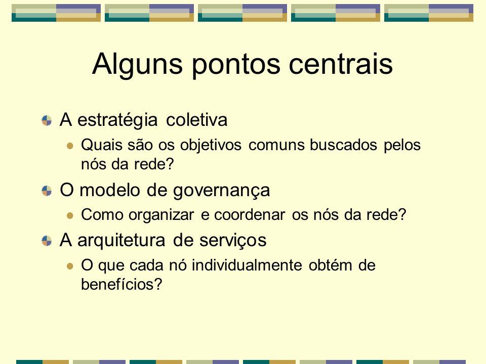 Alguns pontos centrais