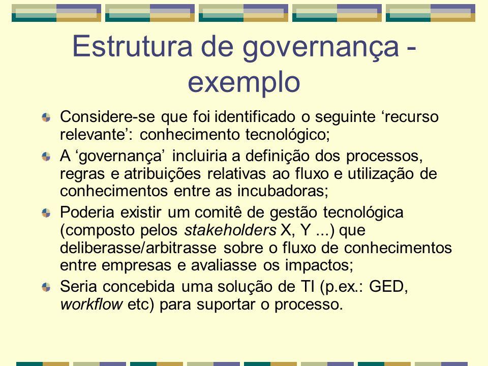 Estrutura de governança - exemplo