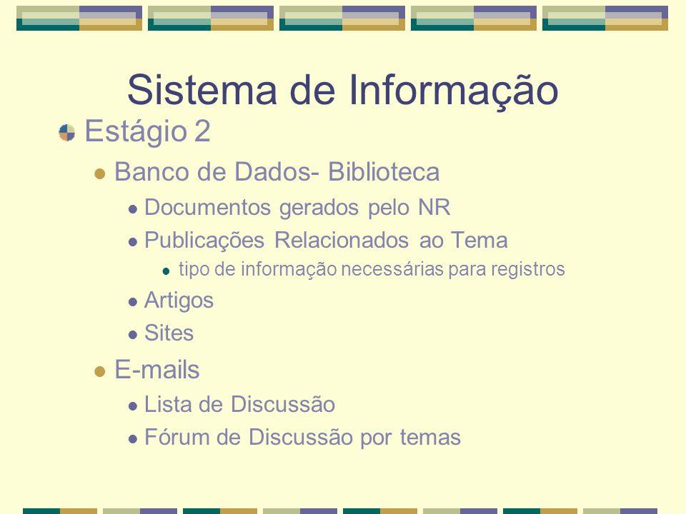 Sistema de Informação Estágio 2 Banco de Dados- Biblioteca E-mails