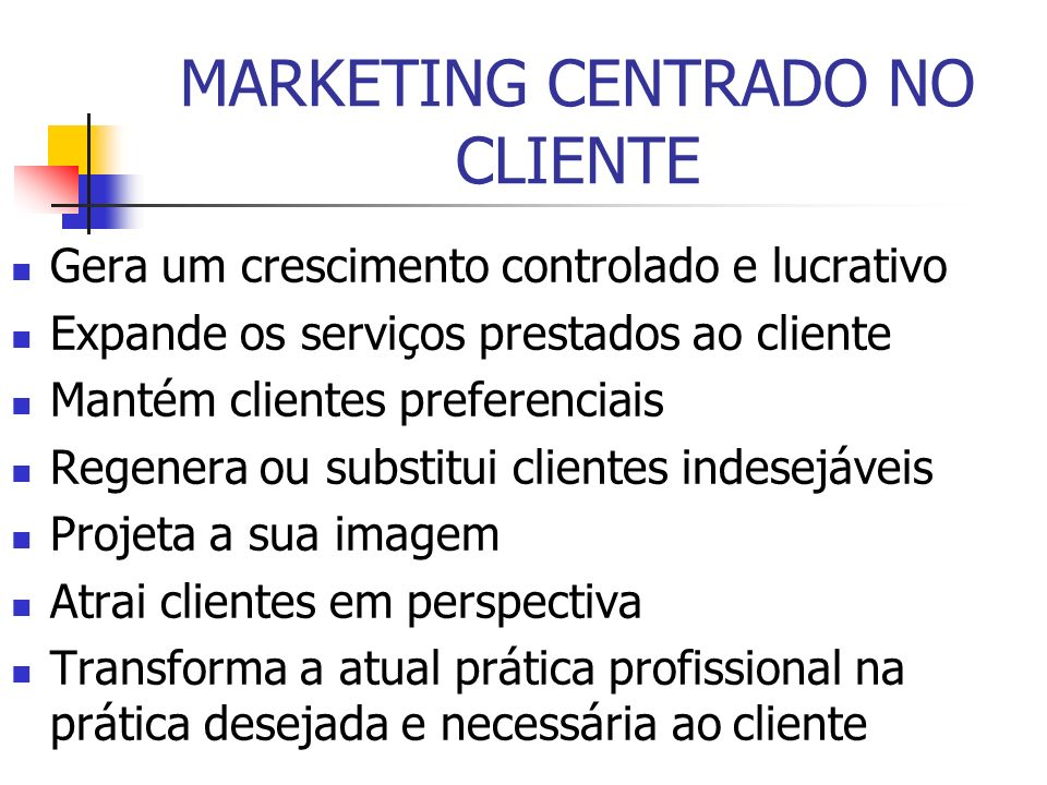 MARKETING CENTRADO NO CLIENTE